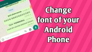 How to change font style in android