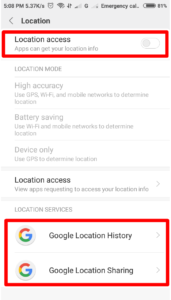 How other know's your location history from your phone