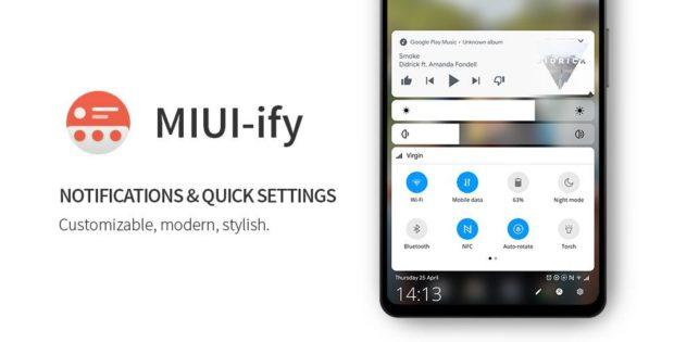 MIUI-ify - Notification Shade