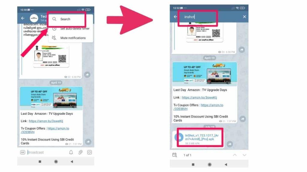 Download InShot Pro apk From telegram
